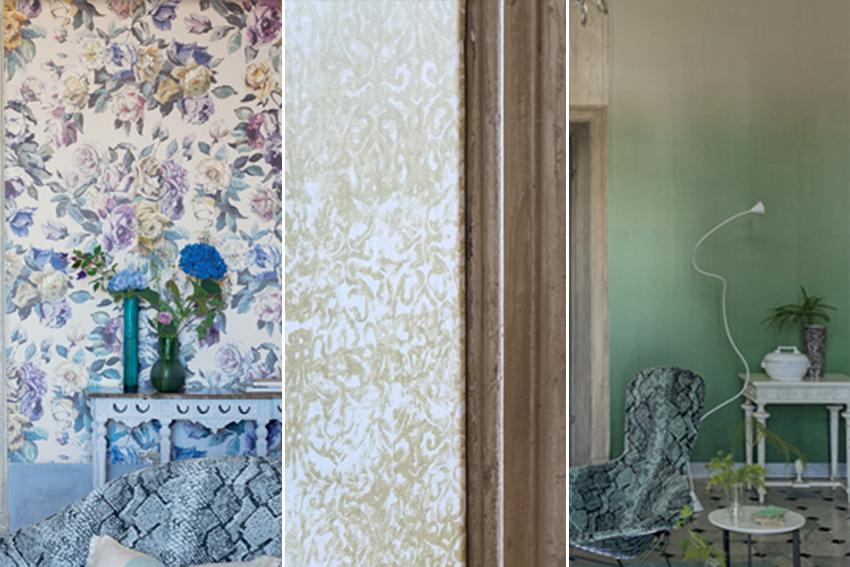 Pin designers guild bleu nature interieur stoffen behang for Interieur stoffen